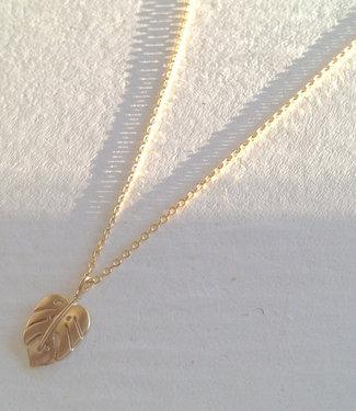 Pika & Bear Monstera Leaf Charm Necklace