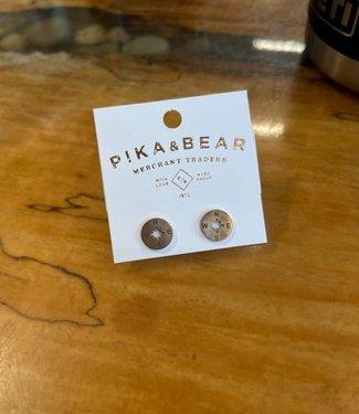 PIKA & BEAR Pika & Bear Compass Silhouette Stud Earrings