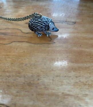 Pika & Bear Porcelain Hedgehog Pendant Necklace