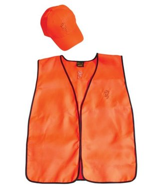 BROWNING Browning Safety Hunter Combo - Adult Size Cap And Safety Vest