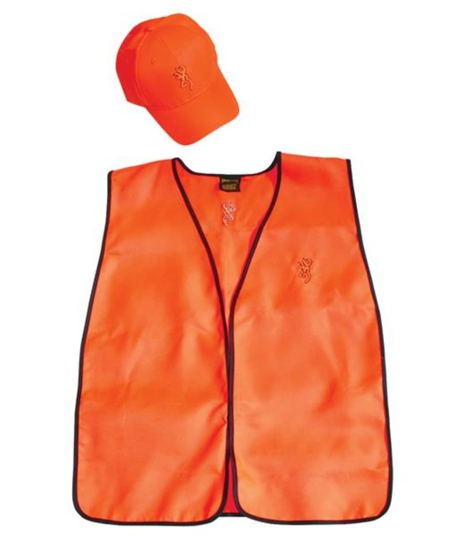 Browning Safety Hunter Combo - Adult Size Cap And Safety Vest