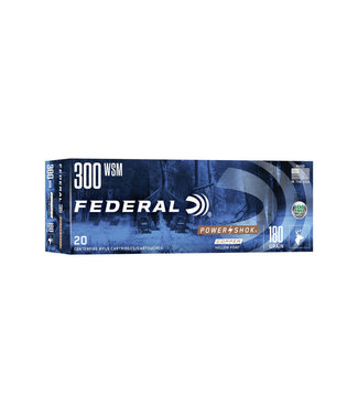 Federal Power-Shok Copper Rifle 300WSM 180GR Copper HP