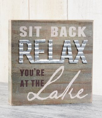 Giftcraft Relax You're At The Lake Block Sign