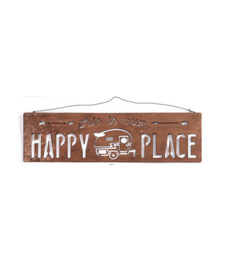 Giftcraft Happy Place Metal Cut Out Sign