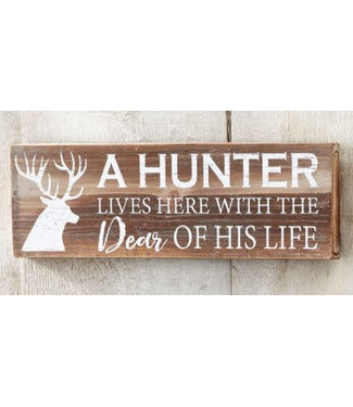 Giftcraft Hunter Lives Here Wood Wall Sign