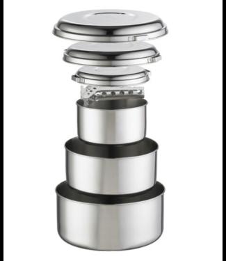 MSR CAMPING SUPPLIES MSR Stainless Steel Alpine 4 Pot Set
