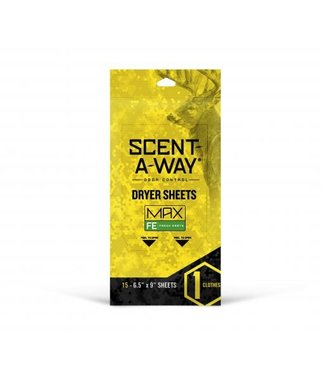 Hunter's Specialties Scent-A-Way Odour Control Dryer Sheets - Fresh Earth Scent