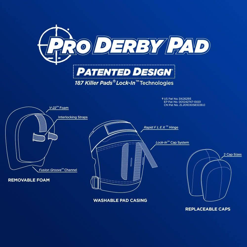 187 Pro Derby Knee Pad