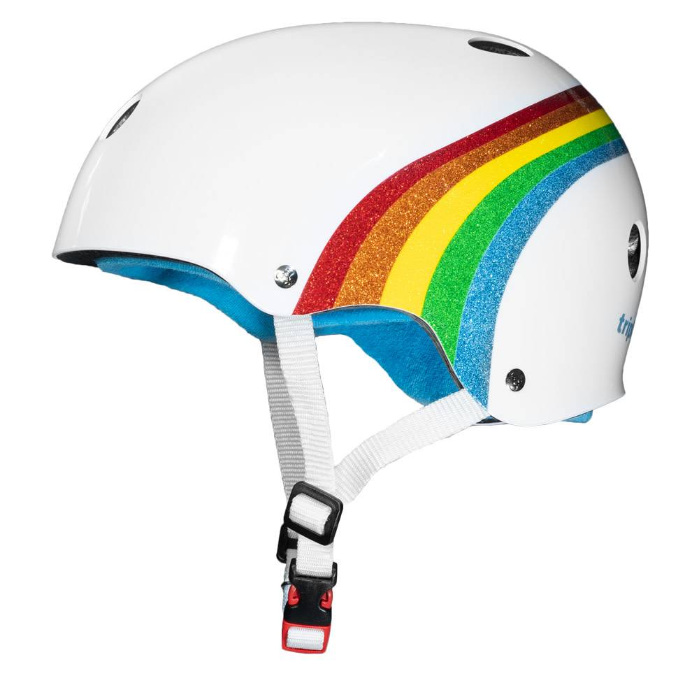 Triple8 Certified Sweatsaver - Rainbow Sparkle/White