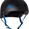 S-1 Lifer Helmet - Black Matte w/ Cyan Straps