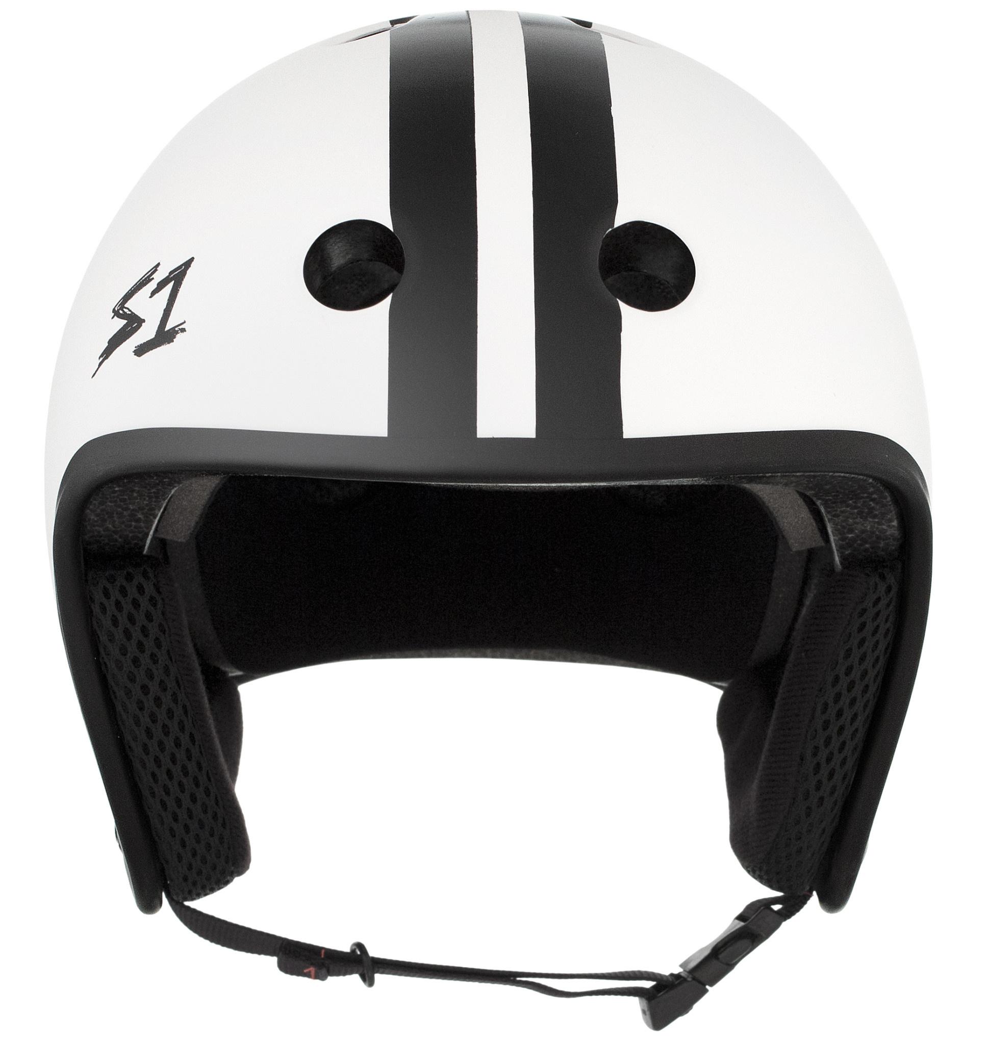 S-1 Retro Lifer Helmet - White Matte w/ Black Stripes