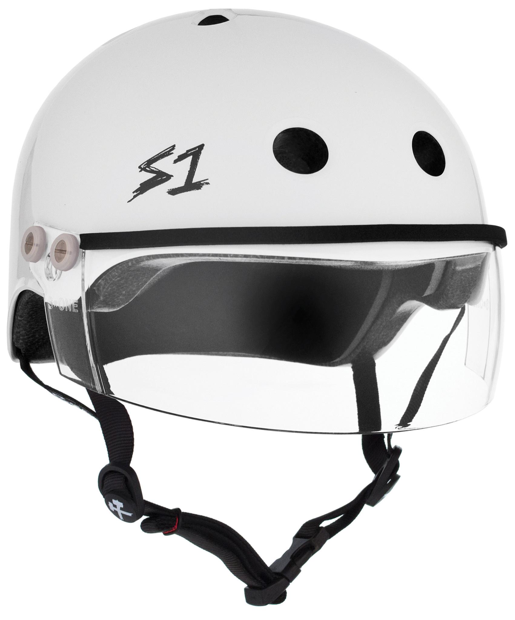 S-1 Lifer Visor Helmet - White Gloss