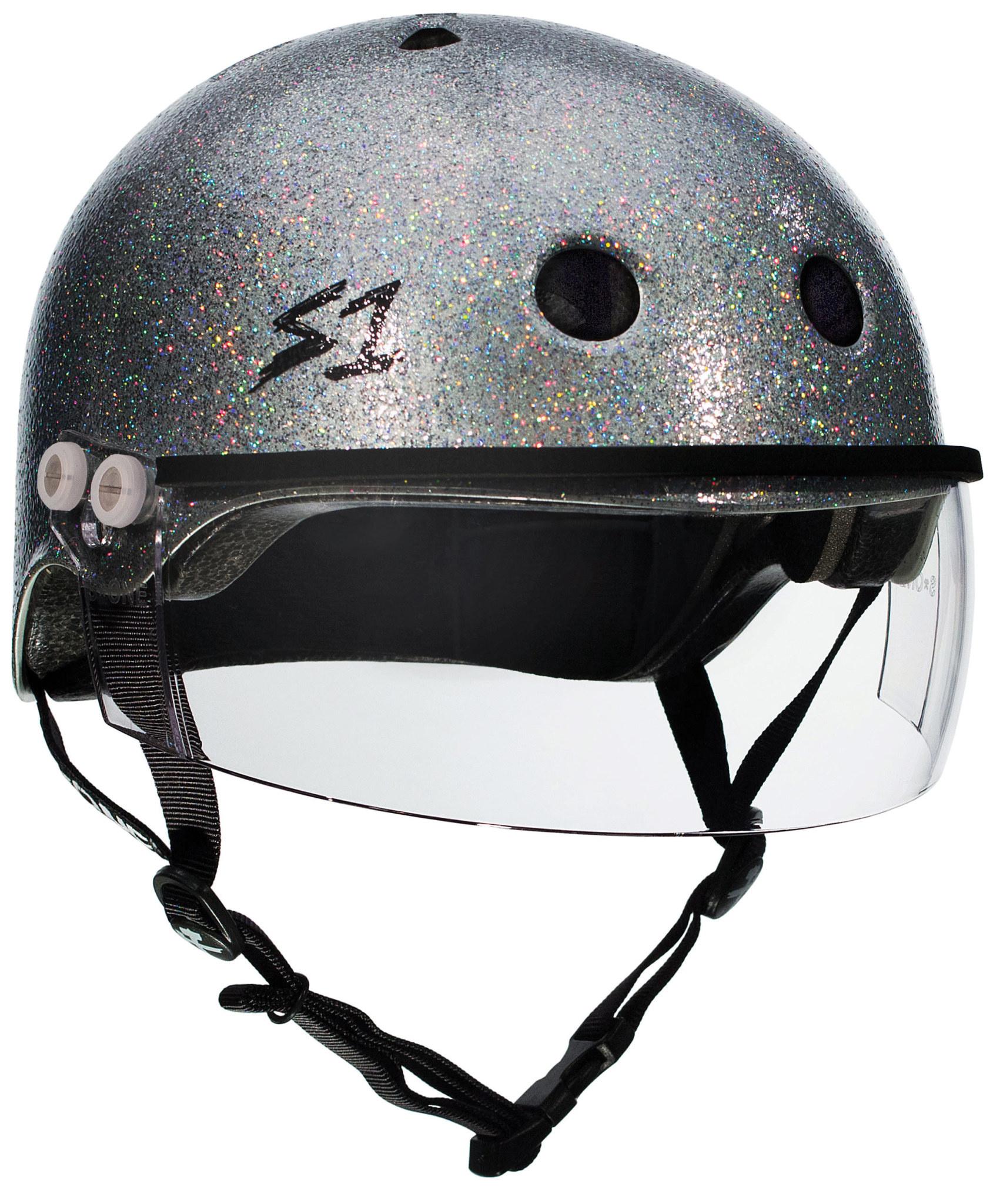S-1 Lifer Visor Helmet - Silver Glitter Gloss