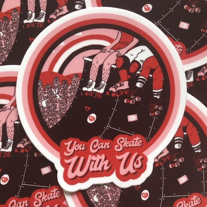 CIB Skate With Us Sticker