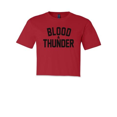 Blood & Thunder Signature Crop Tops