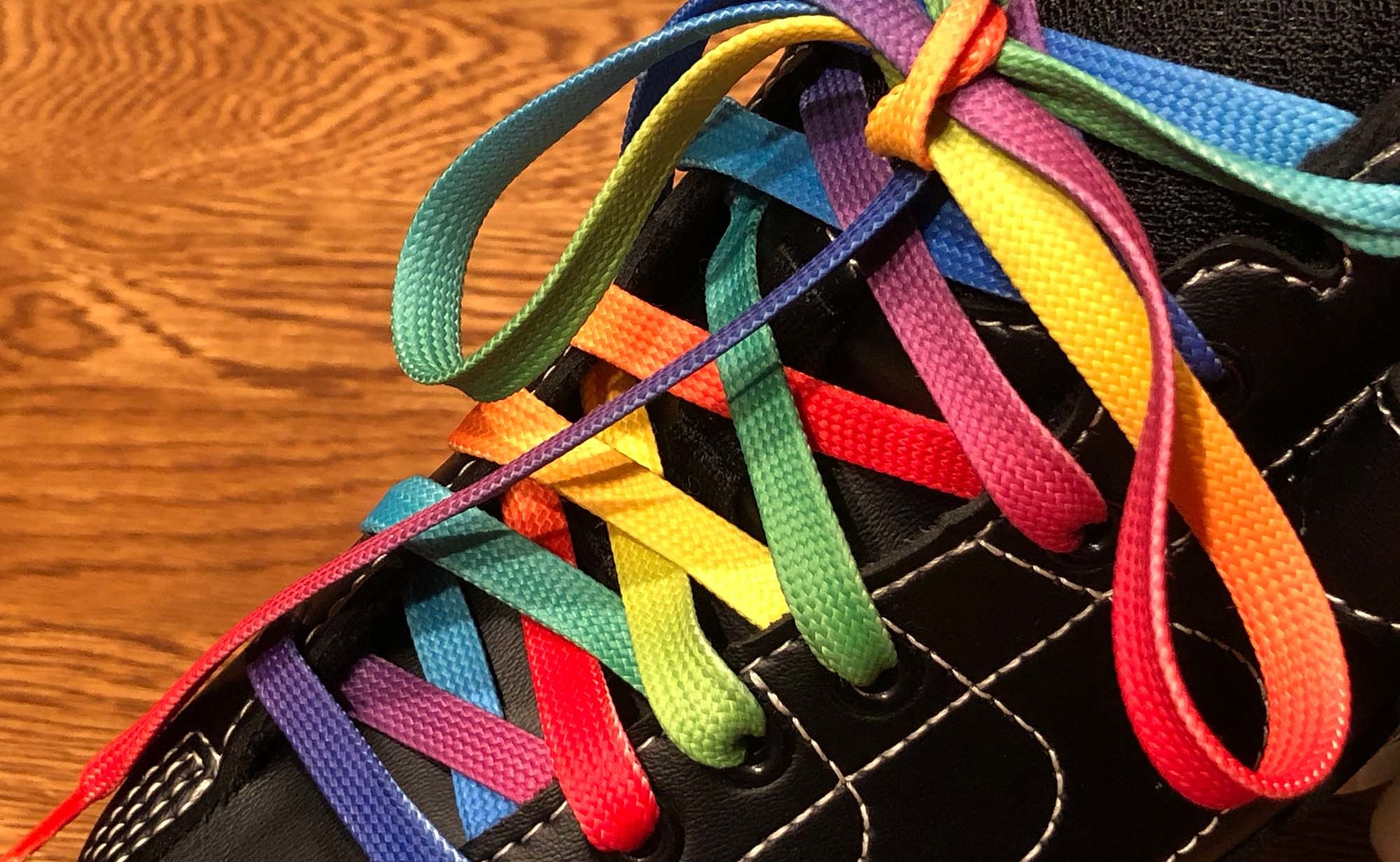 Derby Laces STYLE Waxed - Rainbow Gradient