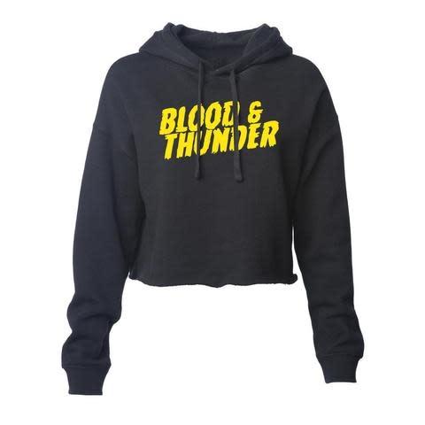 Blood & Thunder Mondo Crop Hoodie