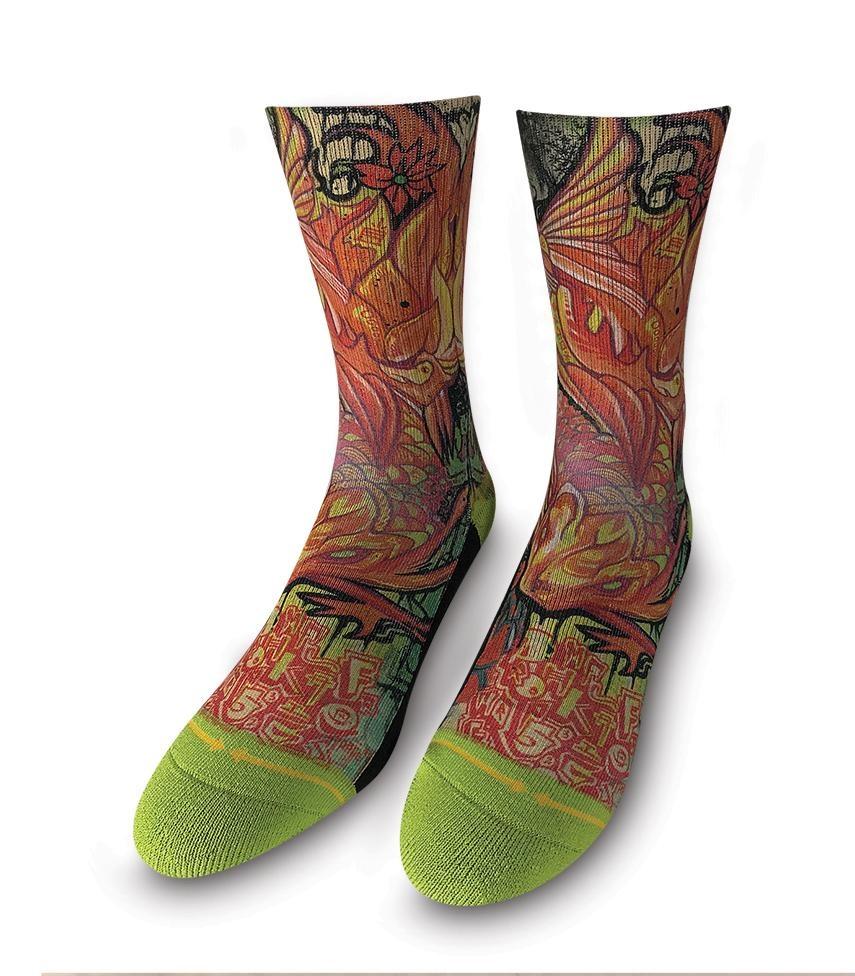 Merge4 Koi Red Sock
