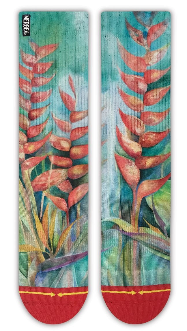 Merge4 Heliconias Sock
