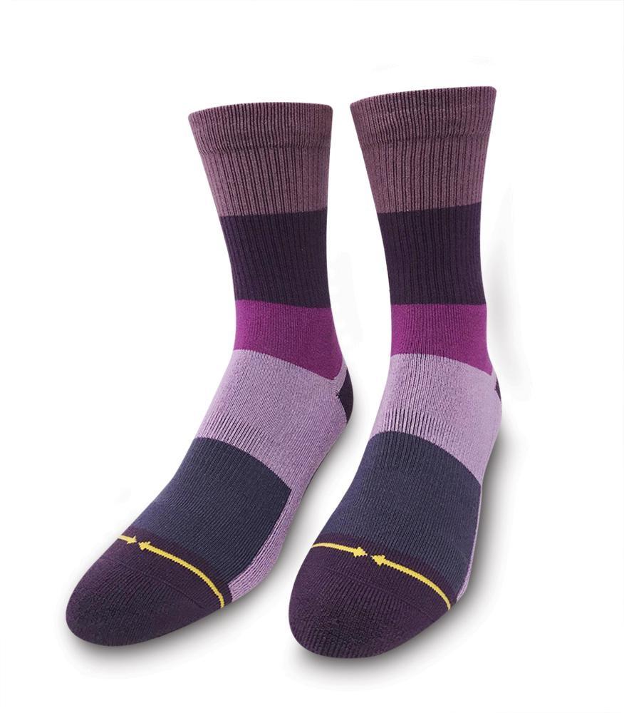 Merge4 Purple Stripe Bamboo Sock