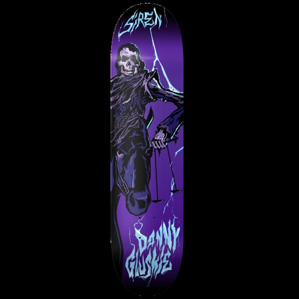 """Siren Gluskie Rev 6 Black Horse Deck - 8.25"""""""