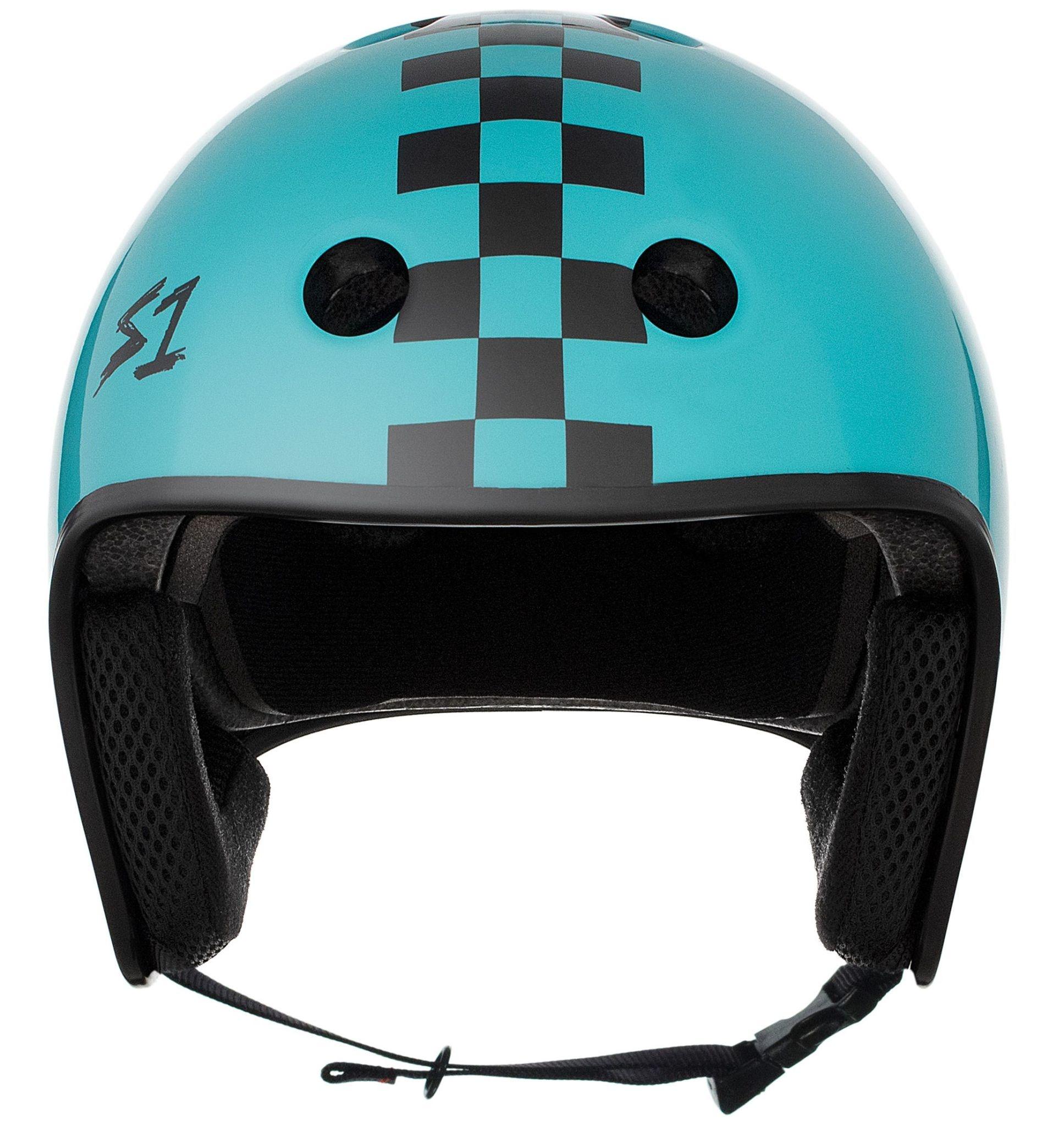 S-1 Retro Lifer Helmet - Lagoon Gloss w/ Black Checkers