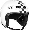 S-1 Retro Lifer Helmet - White Gloss w/ Black Checkers