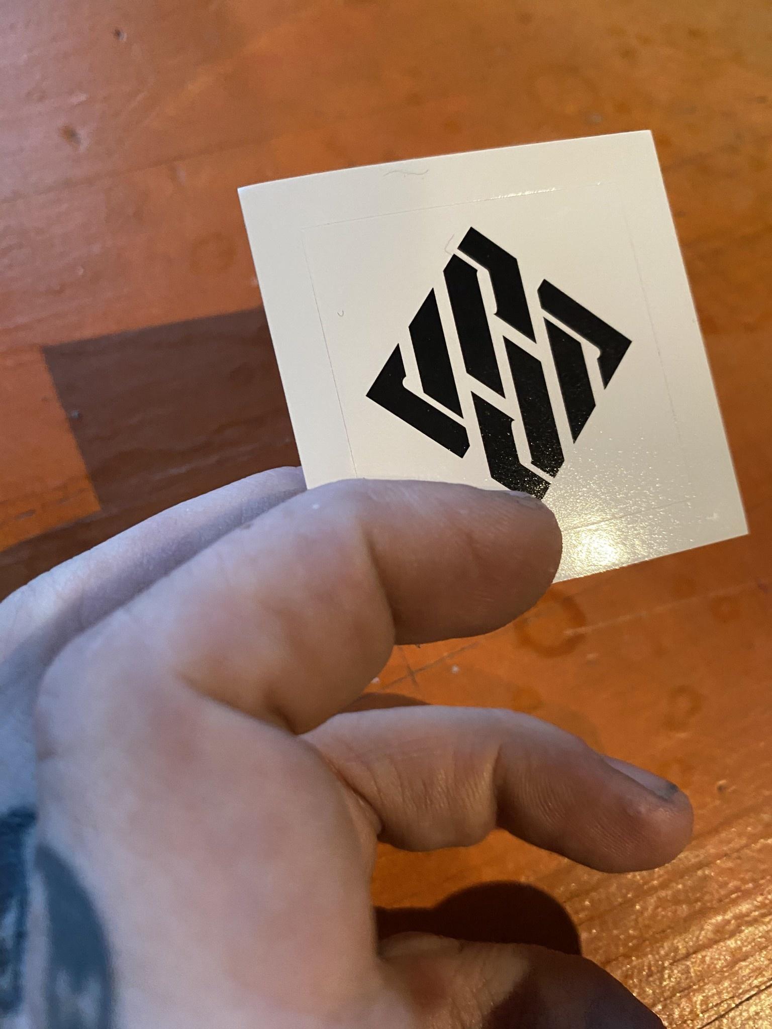 USD Logo Sticker - White/Black