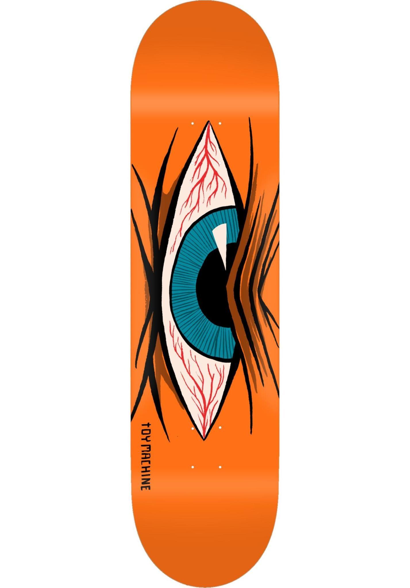 """Toy Machine Mad Eye Deck - Orange 8.0"""""""