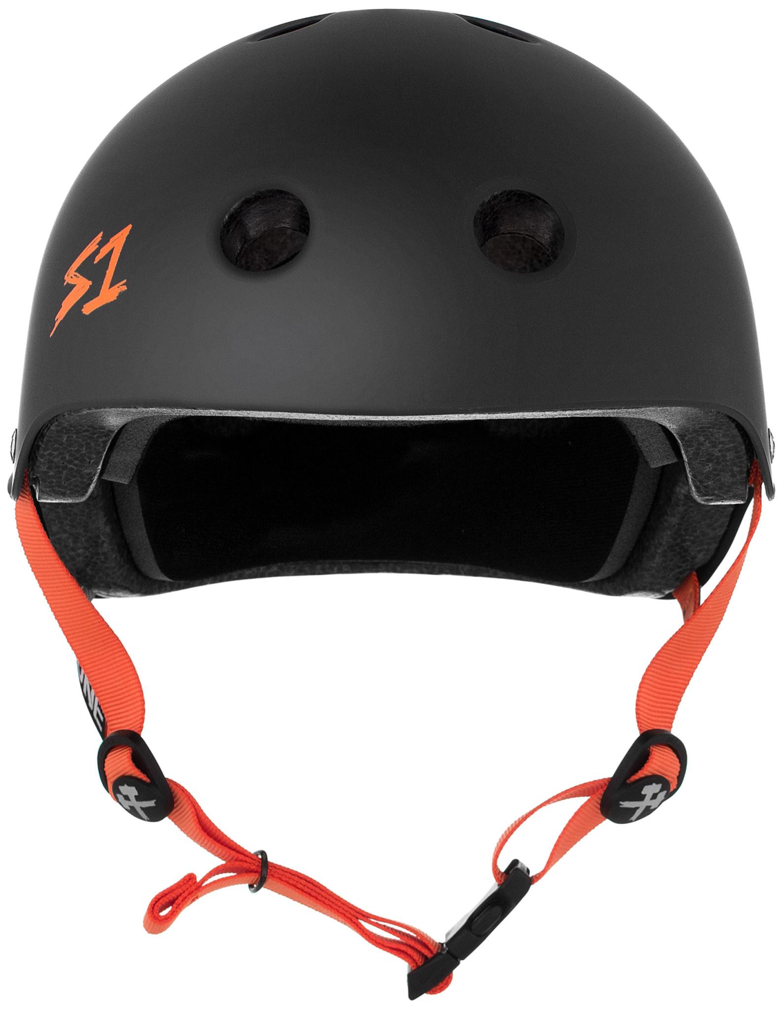 S-1 Lifer Helmet - Black Matte w/ Orange Straps