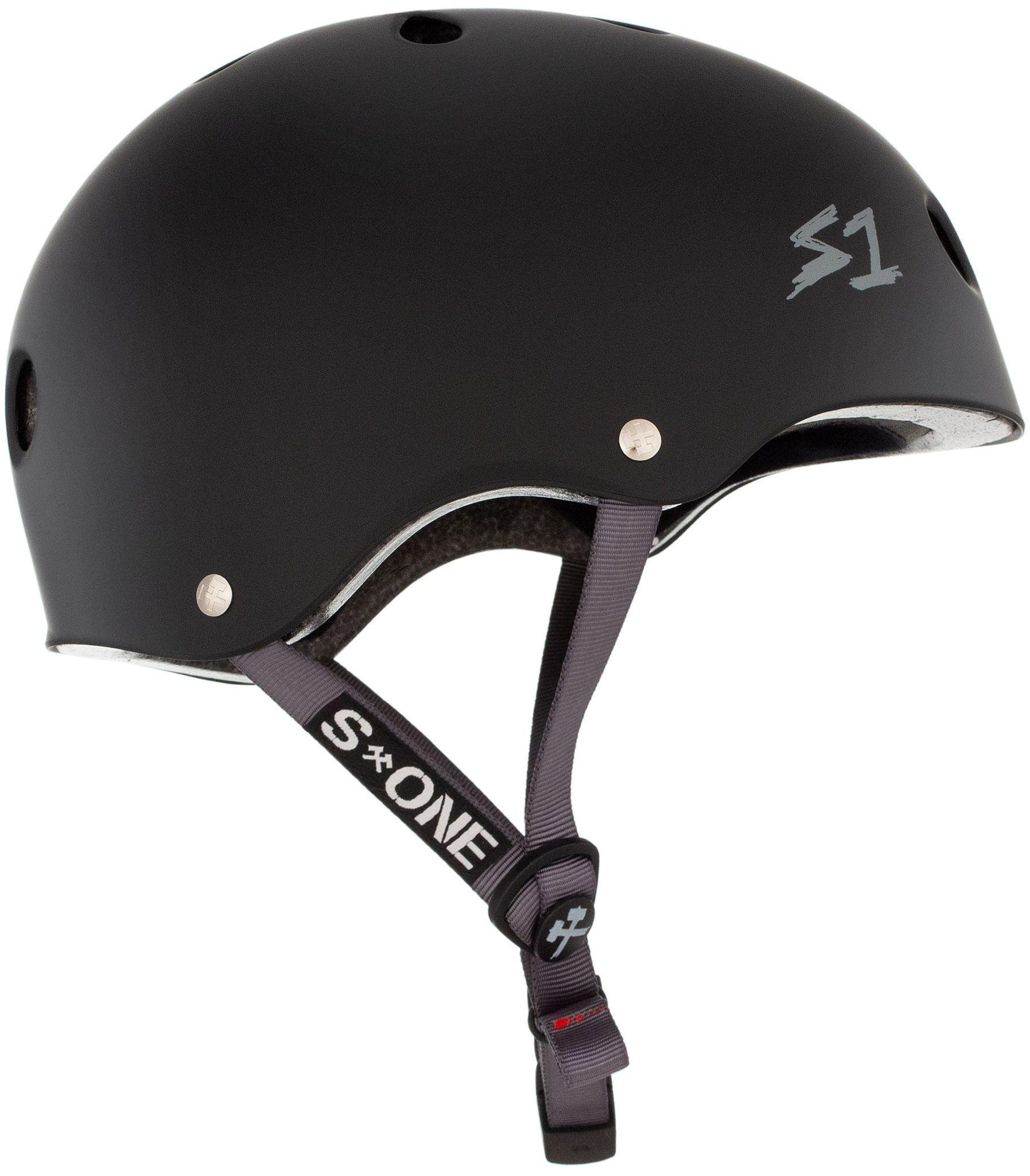 S-1 Lifer Helmet - Black Matte w/ Grey Straps