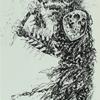 "Blood Wizard Given Neanderwolf Slinger Shape Deck - 8.50"""
