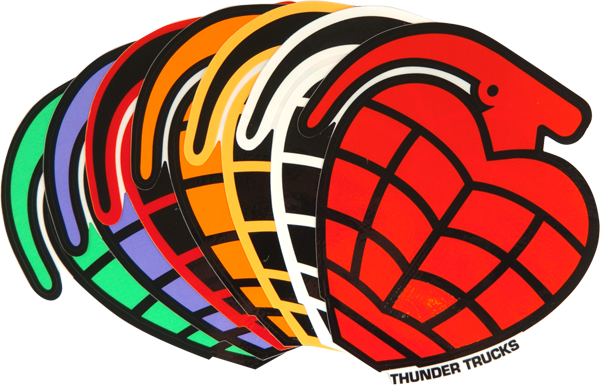 Thunder Die-Cut Grenade Sticker - Assorted Colors