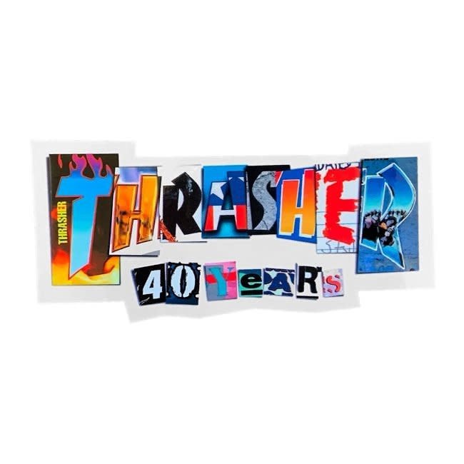 Thrasher 40 Years Sticker