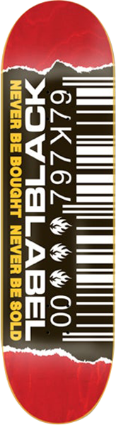 """Black Label Bar Code Ripped Deck Assorted/Black/White/Yellow - 8.80"""""""