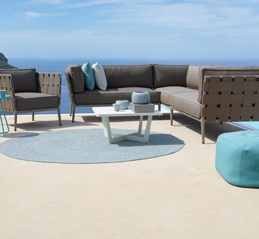 CONIC 2-SEATER SOFA RIGHT MODULE WITH CUSHIONS IN BROWN CANE-LINE SOFT TOUCH