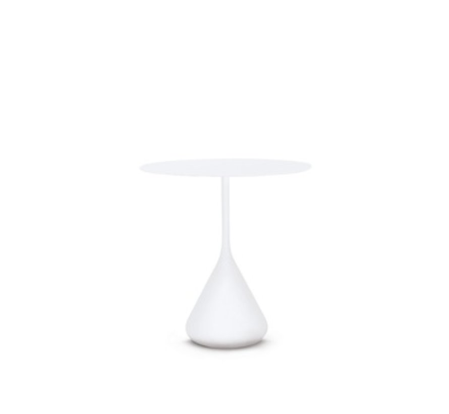 SATELLITE 28 INCH ROUND DINING TABLE IN WHITE