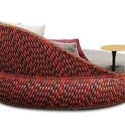 DEDON, INC. DALA LOVESEAT IN COLOR FIRE
