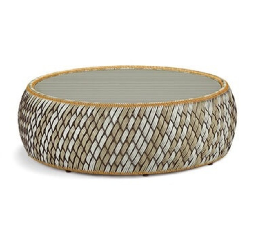 DALA 38 INCH FOOTSTOOL/COFFEE TABLE IN COLOR STONE
