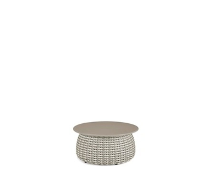 PORCINI 24D x 11.5H SIDE TABLE IN MARRONE