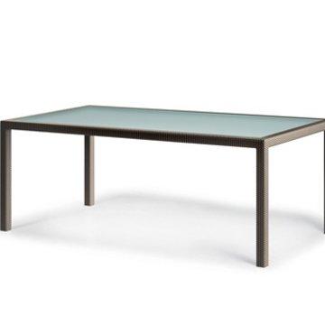 DEDON, INC. BARCELONA 39 x 79 RECTANGULAR DINING TABLE IN BRONZE
