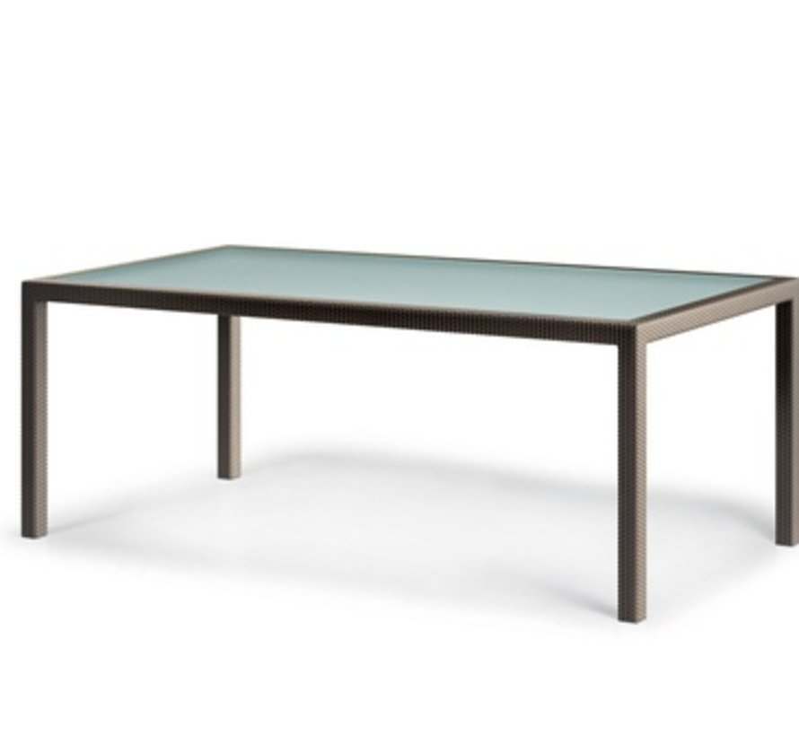 BARCELONA 39 x 79 RECTANGULAR DINING TABLE IN BRONZE