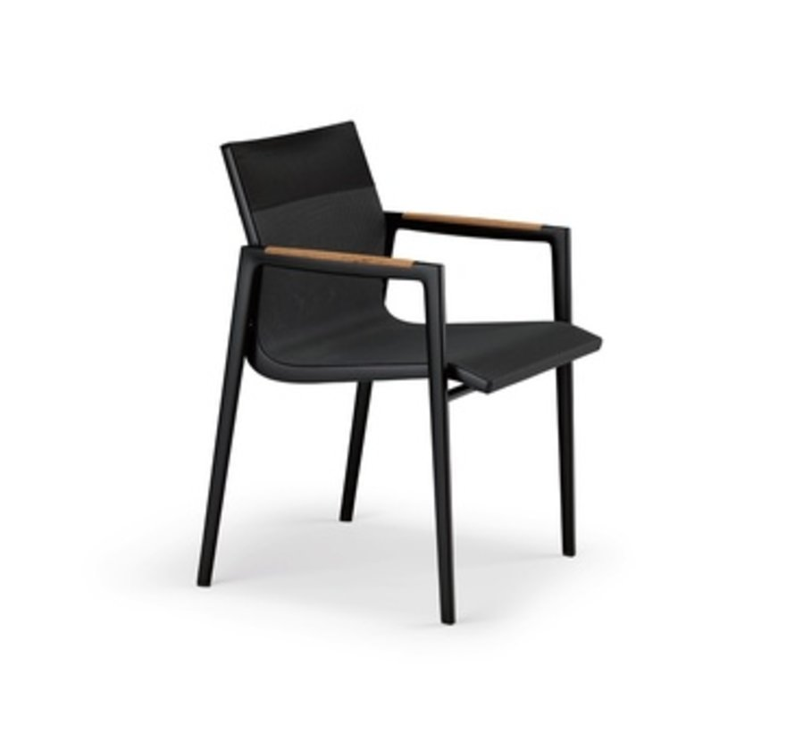 DEAN ARMCHAIR - ANTHRACITE AND BLACK