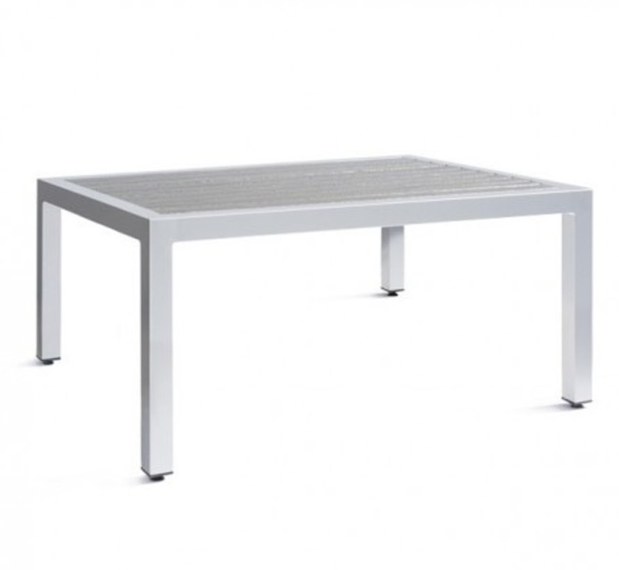 ECOWOOD 22x38 COCKTAIL TABLE, POWDER COATED ALUMINUM FRAME