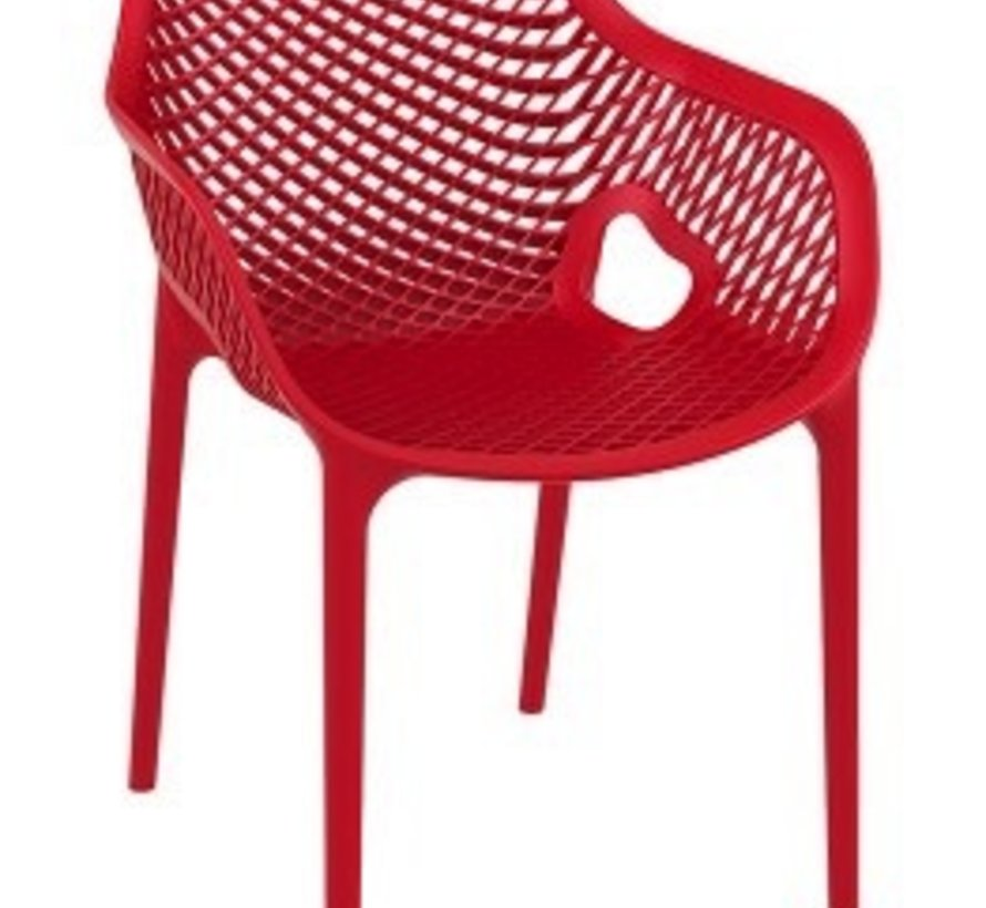 AIR XL DINING ARM CHAIR / RED