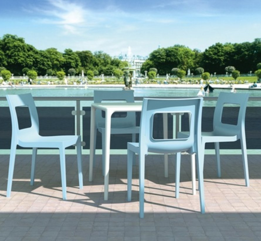 LUCCA DINING CHAIR IN LIGHT BLUE