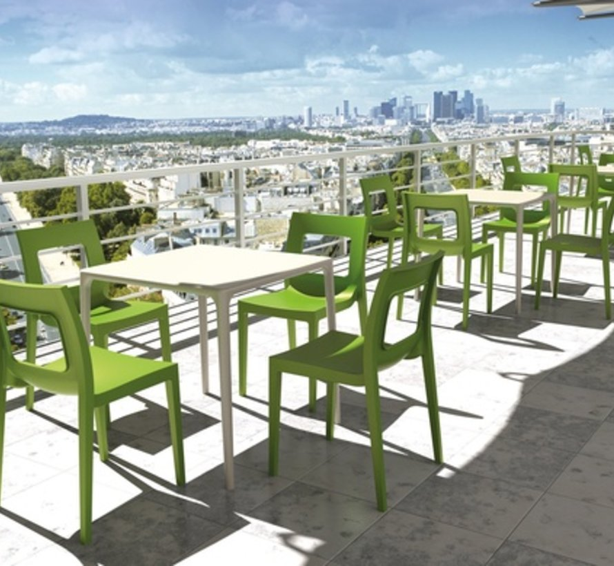 LUCCA DINING CHAIR IN TROPICAL GREEN