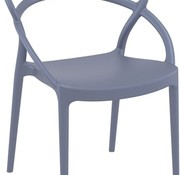 SIESTA PIA DINING CHAIR - DARK GREY