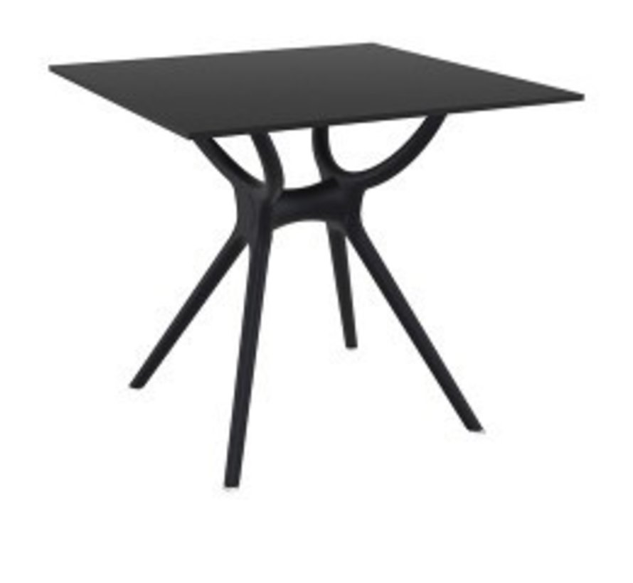 AIR SQUARE TABLE 31x31 / BLACK BASE AND LEGS