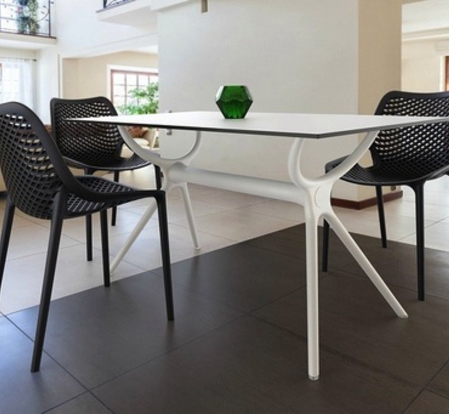 AIR RECTANGLE DINING TABLE 55x31 /  WHITE BASE AND TOP